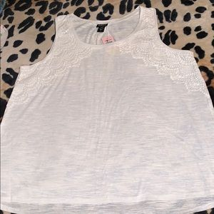 Torrid white tank top